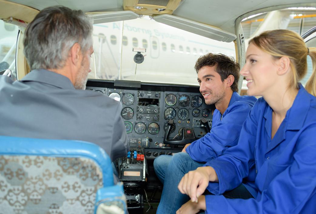 aéronautique à pilote de ligne :